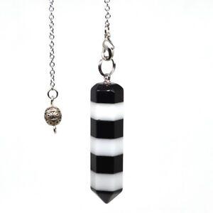 Natural-Gemstones-Combination-Bonded-Pendulum-Healing-Crystal-Reiki-Dowsing-Tool