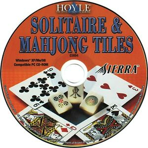 Details about Hoyle Solitaire & Mahjong Tiles PC Windows XP Vista Win 7 8  10 New CD-ROM