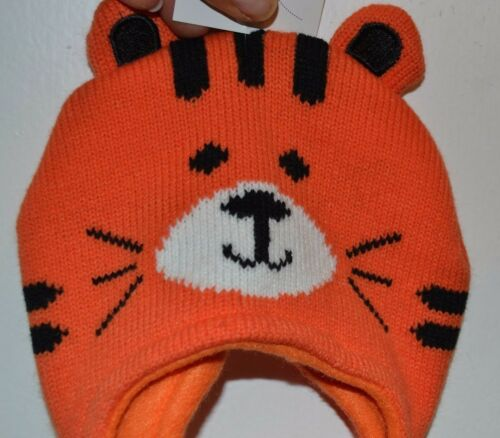 Jumping Beans 0-6 month Tiger Hat with soft fleece lining Brand New with Tags