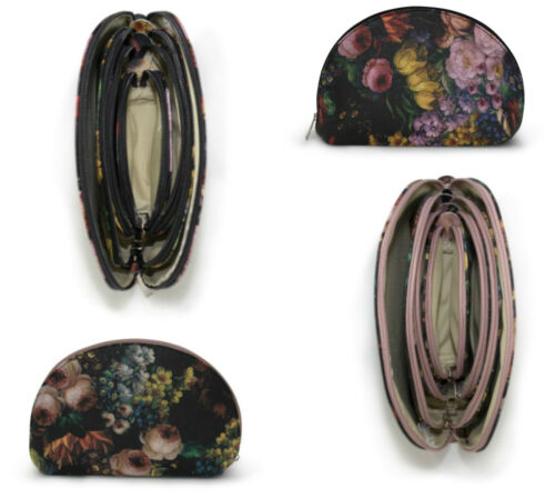Donna floreale a forma di Shell Evening Bag Set di 4 piccoli Make Up Telefono Monete Sacchetto
