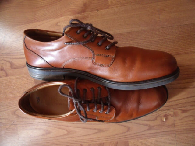 Bostonian Strada Mens Size 13 M Brown Leather Upper Oxfords 24713 Made Italy