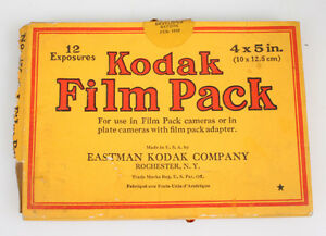 EMPTY BOX FOR 4x5 KODAK FILM, 1932 VINTAGE