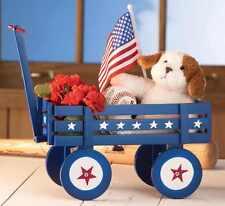 Americana Patriotic Decorative Cute Little Wagon Showcase / Plant Flower Display