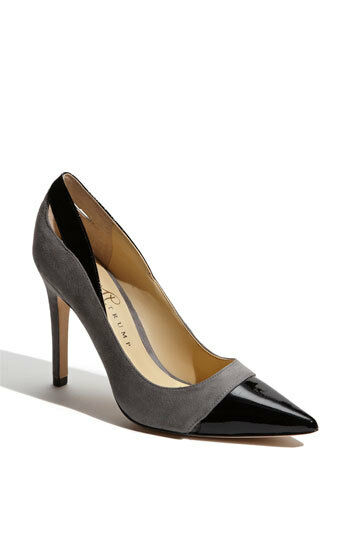 NIB Ivanka Trump Gurdia Suede Leather Pumps Heels Heels Pumps Gray/Black Camel/Black 9.5 10 6242fc