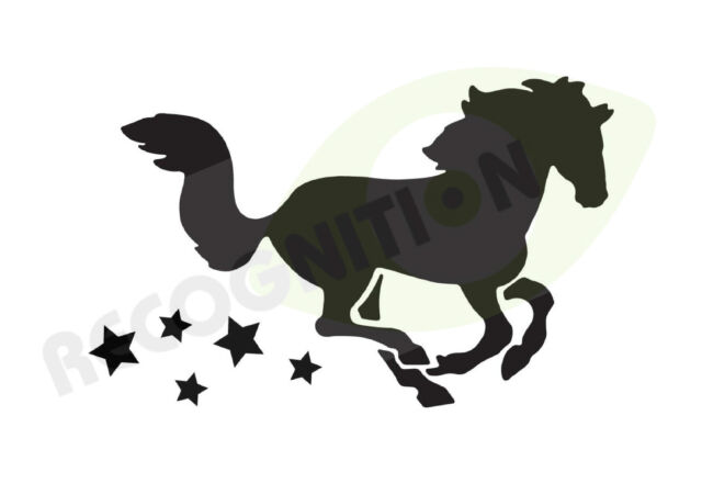 Horsebox / trailer sticker decal HORSE & STARS graphics
