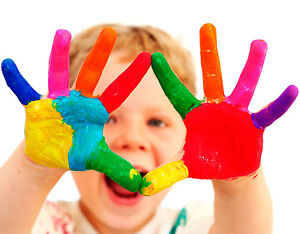 Finger-Paints-Neon-UV-Glow-Childrens-Kids-Face-Body-Fabric-Painting-Pink-Green