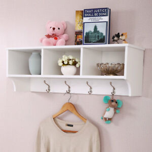 Image Is Loading Entryway Wall Mount Coat Rack Storage Shelf Cubby
