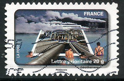 Fete Du Timbre L'eau Cool In Summer And Warm In Winter Realistic Timbre France Autoadhesif Oblitere N° 408