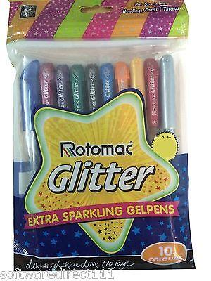 20x Rotomac Glitter Gel Pen (Tattoos, Cards & Coloring) Original Brand New