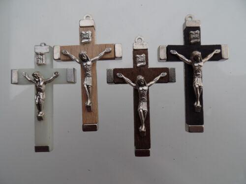 legno-Croci Rosario-accessori 10 pezzi con colore a scelta materiale 4,5 cm ta//45