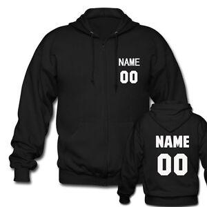 Custom-Men-039-s-Black-Zipper-Hoodies-Personalized-Team-Name-Number-Mens-Jacket