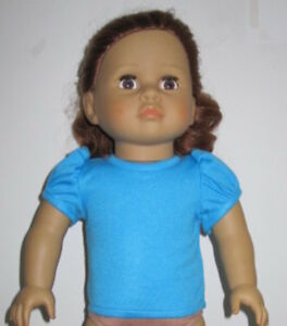 "Mint Green  Short Sleeve T Shirt  Fits 18/"" American Girl Dolls"