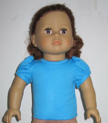 Turquoise Short Sleeve T-Shirt for 18/' Doll.