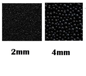 Details about 50g Black Sugar Pearls Dragees 2mm or 4mm Cake Decoration  Cupcake Sprinkles