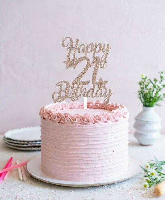 Cake Topper Heart Burst Spray Diamante 21st Birthday Hot Pink For Sale Ebay