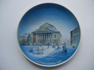 Rosenthal-Christmas-Plate-1987-Munich-Nationaltheater-Meine-Type-No-1987-1