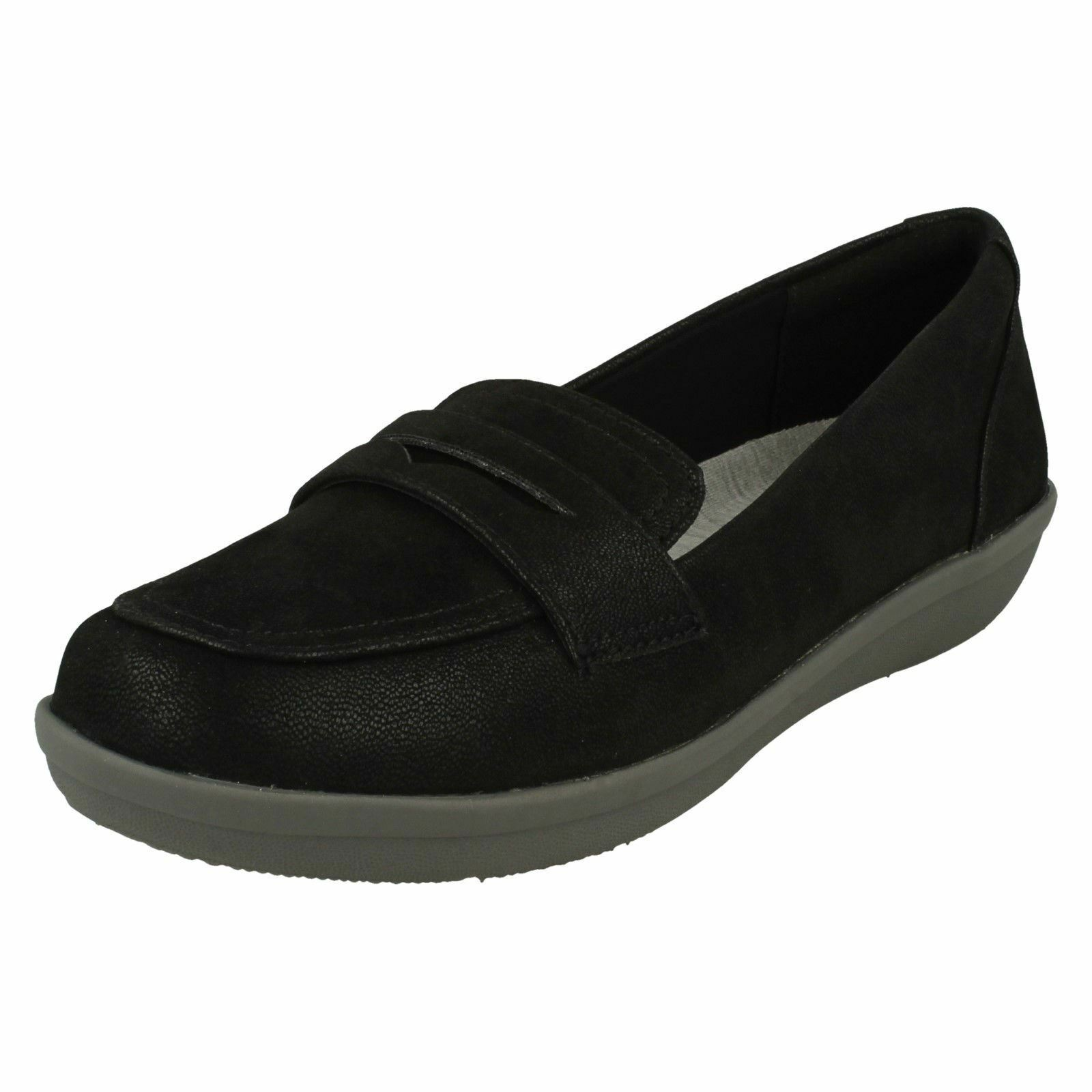 LADIES CLOUDSTEPPERS CLARKS AYLA FORM SMART CASUAL LOAFERS SLIP ON COMFORT SHOES