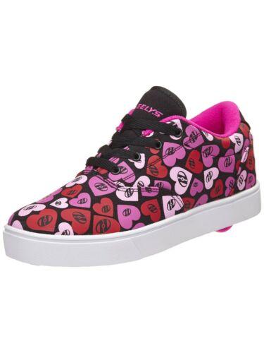 Heelys Girl/'s Launch Youth Sneaker HE100081H Black//Multipink//Hearts