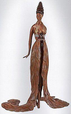 "Erte    (Romain De Tirtoff)      ""Feather Gown""     Bronze     MAKE OFFER"