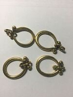 Antique Gold Loop Ring Eyeglass Chain Holder Ends