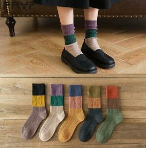 Fashion Unique Ladies Women Ripple Loose Top Cotton Blend Ankle Socks 5 Styles
