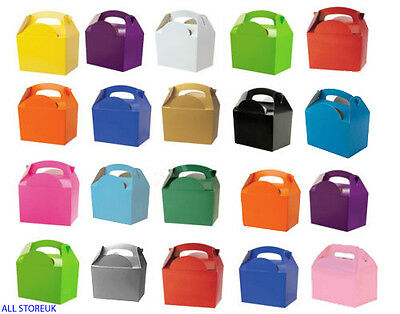 Rainbow Colours Childrens Kids Carry Birthday Party Food Loot Favour Bag Boxes