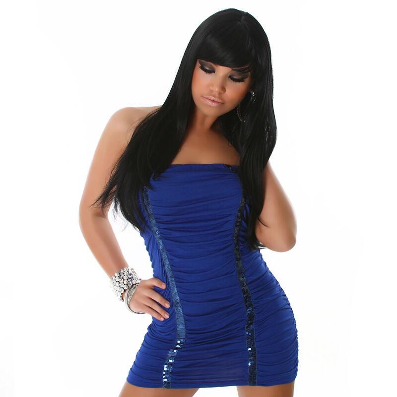 Sexy ABITO TUBINO PAILLETTES taglia taglia taglia unica XS, S, M blue vestito Fashion GLAMOUR 789f7f