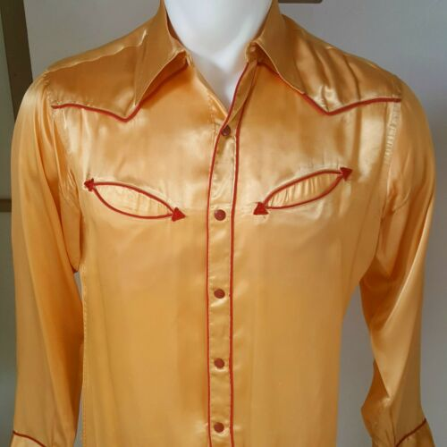1940s or 50s Vintage Satin Prior Brand Western Cow