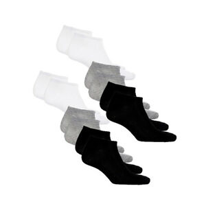 Everlast-Men-039-s-7-Pack-No-Show-Socks-Value-Pack-Assorted-Colors-Blk-Wh-Gry-10-13