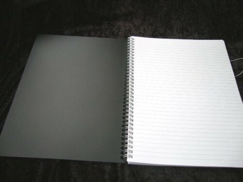1 x 5 Star A4 Wire Bound Ruled Notepad Book 930300 Black Poly Cover Elasticated