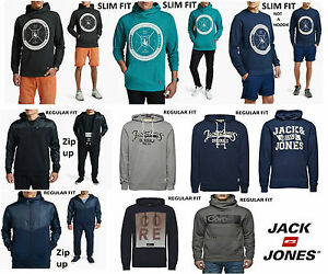 Mens-Designer-Jack-And-Jones-Stylish-Trendy-Hooded-Top-Chino-Hoodie-Retro-Casual
