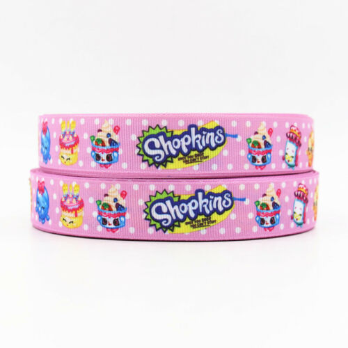 "Shopkins Ribbon Pink 7//8/"" Wide NEW UK SELLER FREE P/&P"