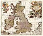 Historische Karte: Britischen Inseln, nach 1717 (gerollt) von Nicolas Visscher (2011, CD)