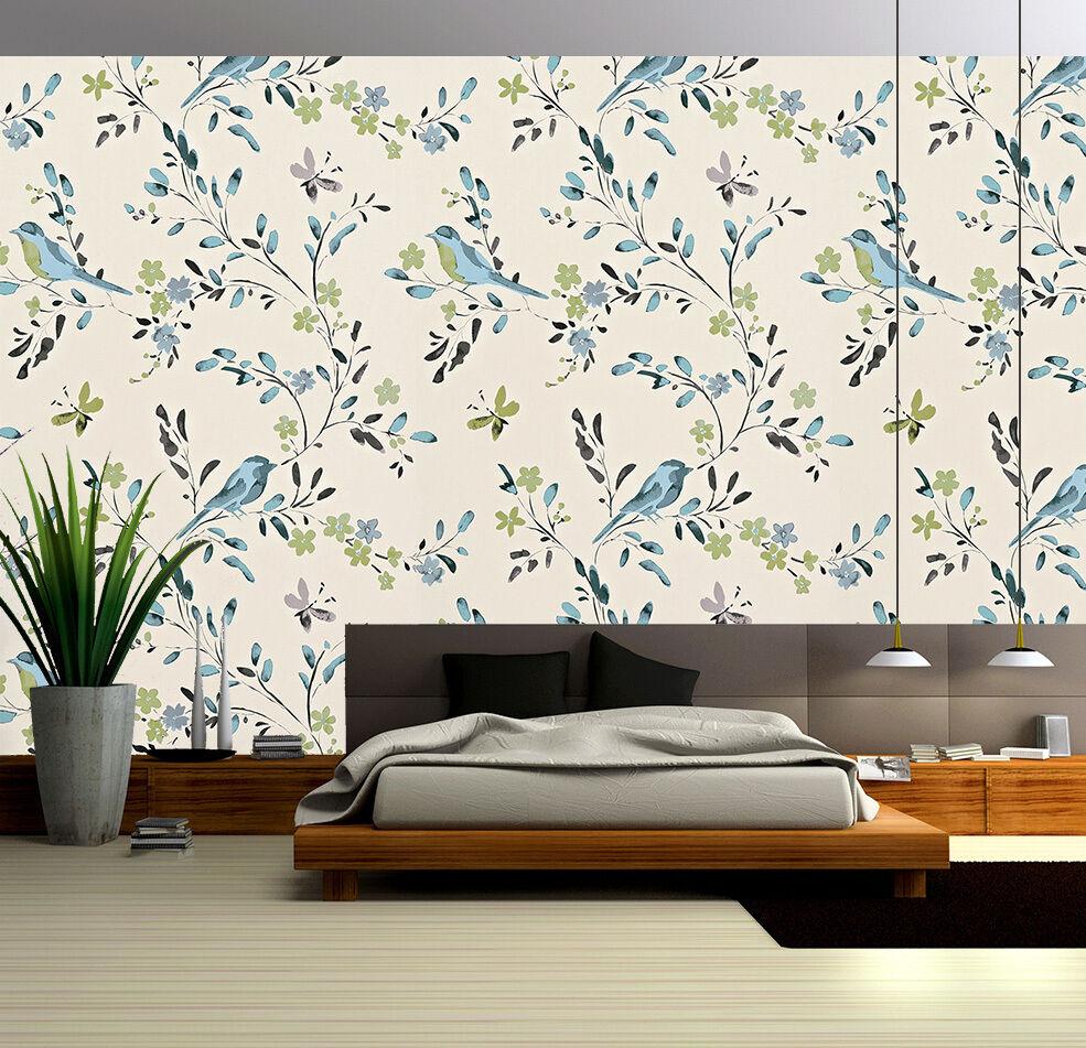 3D Branch Birds Patterns 126 Paper Wall Print Wall Decal Wall Deco Indoor Murals