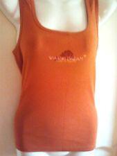 "Tom Tailor Damen Shirt Tank Top Baumwolle ""DREAM"" orange Gr. L Neu"