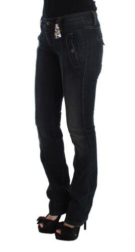 Ermanno Pantaloni s Nuovo Blu Slim Cotone Jeans Scervino it40 S Slavato Us6 R7qRxwdH
