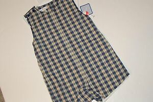 Petit Ami Outfit Boys 4T Outfit Plaid Great for Monograming NEW