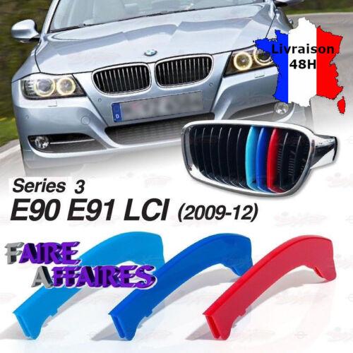 3 Clip bandes Grille Calandre BMW M Motorsport Performance E90 E91 LCI 320D 325D