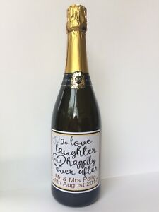 Image Is Loading Personalised Wedding Quote Wine Prosecco Champagne Bottle Sticker