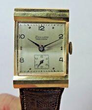 Antique Vintage 14k Yellow Gold BANNER Precision Swiss Men's Wrist Watch  #W301