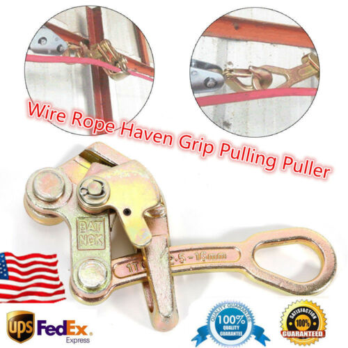 NEW  MULTIFUNCTIONAL CABLE WIRE ROPE PULLERS HAVEN GRIP JAW PULLING 2204 LBS US