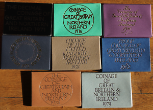 Royal Mint UK/World Card Proof Coin Set Covers 1970-1982 No coins
