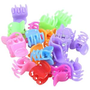 HK-20-Colorful-Assorted-Mini-Small-Plastic-Hair-Clips-Claws-Clamps-M4C3