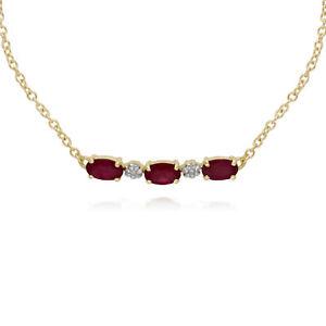 Gemondo-9ct-Yellow-Gold-Ruby-and-Diamond-Five-Stone-19cm-Bracelet