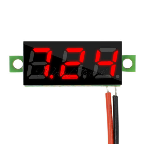 "10PCS Mini DC Digital Red LED 0.28/"" 2 Wire Voltage Volt Meter Voltmeter"