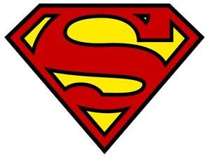 Superman-Logo-T-Shirt-Transfer-Zum-Aufbuegeln-Gross-A4-Groesse-Weiss-T-Shirt