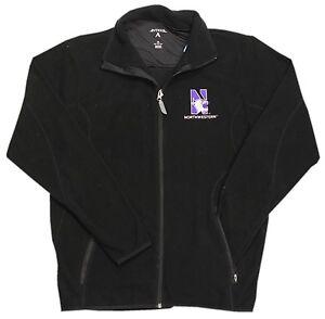 8496 8500 Left Ice Wildcats Chest Embroidery Northwestern Zwart Full Zip Jacket MzqLVpGSU