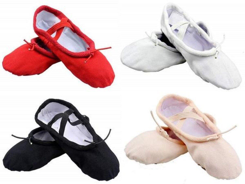 Ballet Shoes Canvas Yoga Gymnastic Split Sole Adult's & Children's Sizes