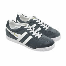 Gola Harrier Suede Mens Gray Suede Lace Up Sneakers Shoes 8