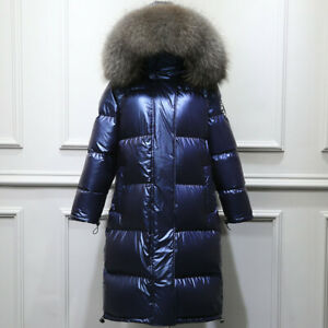 About Windproof Warm Fur Details Big Duck New Collar Jacket Women Hooded Down Shiny Coat Parka rxedBCoW